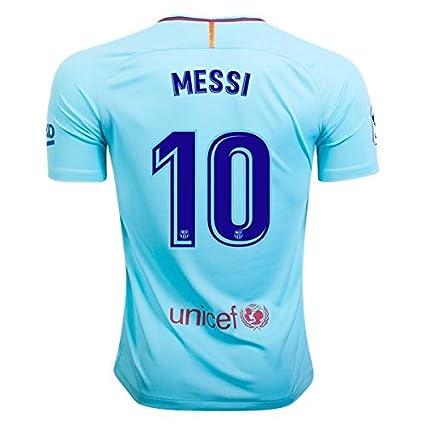 2fe1d3eb9 Amazon.com   Lionel MESSI  10 AWAY BARCELONA 17 18 Soccer Jersey Men s  Color BLUE Size XL   Sports   Outdoors