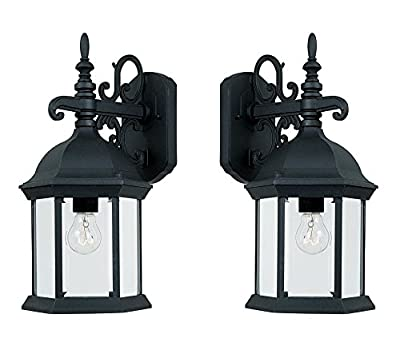 Designers Fountain 2971-BK Devonshire Wall Lanterns, Black