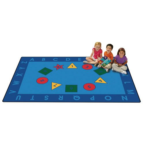 Carpets for Kids 72.82 Early Learning Kid$ Value Plus Rug-6' x 9' 6' x 9' , 6' x 9' , Blue