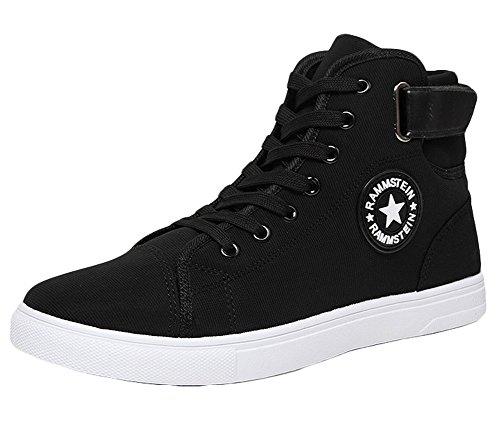 Sneakers High King Men's Black Canvas Fashion top Ma Shoes xxYwO