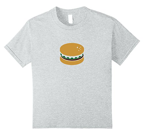 Price comparison product image unisex-child Cheese Burger Emoji Shirt - Best Hamburger Grill BBQ Gifts 12 Heather Grey