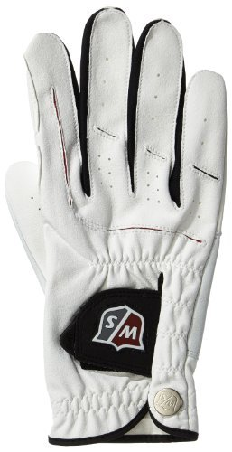 Price comparison product image Wilson Men's Grip Plus Golf Gloves - White / Red,  Large by Wilson