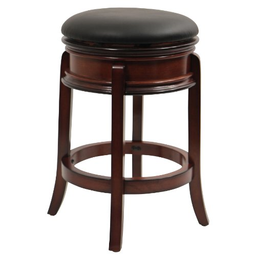Boraam 43024 Magellan Counter Height Swivel Stool, 24-Inch, Brandy