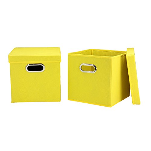 Cube Set with Lids, 2pk, Yellow