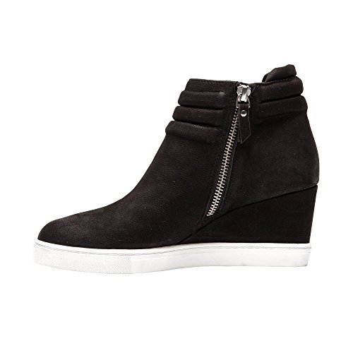Leather Sneaker or Bootie Black Wedge Women's Platform Leather Suede Frieda xBYqIXZwt
