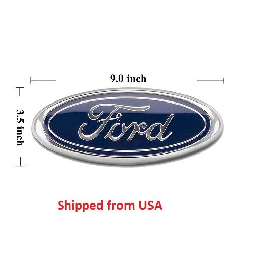 2x Pack FORD F150 Dark Blue Grille Tailgate Emblem 2005-14, Oval 9