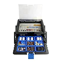 500pc Rotary Tool Accessories Kit in Cantilever Case - LINE10 Tools
