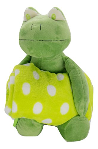 Plush Animal Lovey with Security Blanket Gift Set for Baby Boys and Baby Girls (Green Frog) (Frog Security Blanket Baby)
