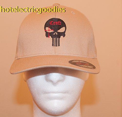 L/XL Chris Kyle Tan Official LONG TEETH Khaki Cap Hat Craft