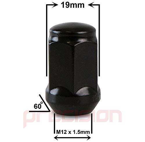 Black Wheel Nut and Locking Nut Set for Aftermarket Ĥonda Civic Alloy Wheels Part No 16NM10B+N11B113