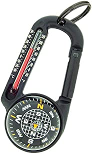 Sun Company TempaComp - Ball Compass and Thermometer Carabiner   Hiking, Backpacking, and Camping Accessory  