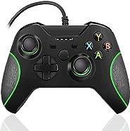 xuelili Controle com fio para Xbox one, controle do Xbox One com fio com vibração dupla e design avançado, gam