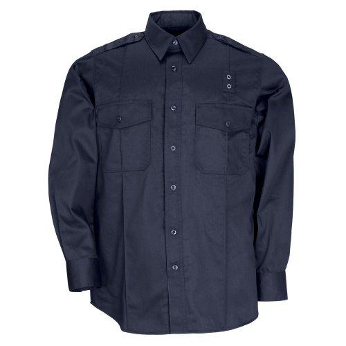 5.11 Tactical Men's PDU Long Sleeve Twill Class A Shirt, Midnight Navy, Medium
