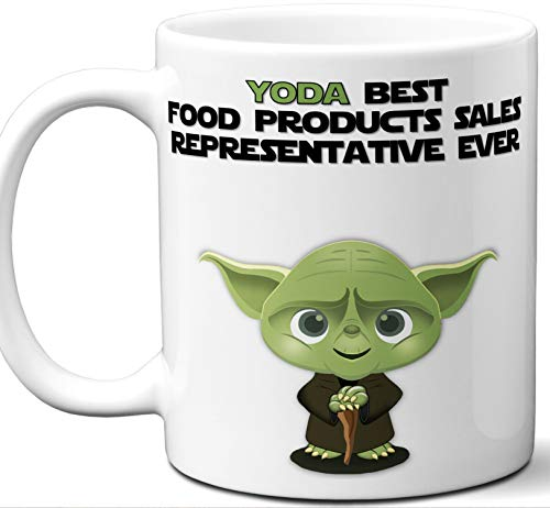 Funny Gift For Food Products Sales Representative. Yoda Best Employee Ever. Cute, Star Wars Themed Unique Coffee Mug, Tea Cup Idea for Men, Women, Birthday, Christmas, Coworker. ()