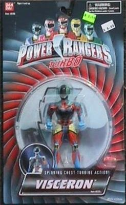 Power Rangers Turbo 1997 Evil Space Alien Visceron spinning chest turbine action figure MOSC MOC Rare