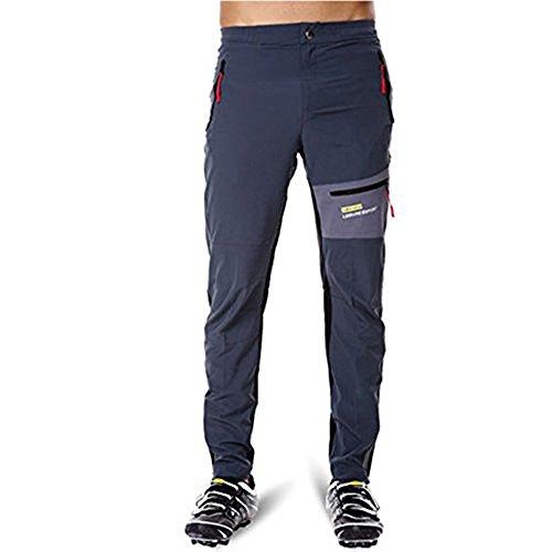 Acacia Black Grey Breathable Soft Bicycle Safety Reflective Elastic Waist Pants Spring Autumn Men Cycling Long Pants