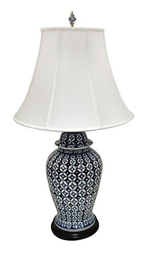 Porcelain Vase Table Lamp - Royal Designs Oriental 22
