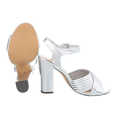 Sandales Design Ll Femme Kitten Sandales 71p Heel Argent Ital High Escarpins Heel Chaussures gqxP1gYw
