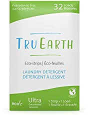 Tru Earth Hypoallergenic, Eco-friendly & Biodegradable Plastic-Free Laundry Detergent Sheets/Eco-Strips for Sensitive Skin (32 Loads, Fragrance-Free)