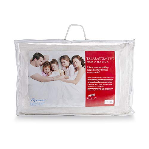 (RejuveNite Original Premium Talalay Latex Renewal Pillow is Now The Talalay Classic Low Profile Pillow for Back Sleepers-Queen)
