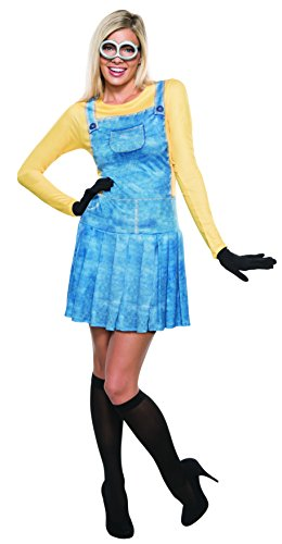 [Rubie's Costume Co Women's Minions Female Costume, Yellow, Small] (Adult Minions Costumes)