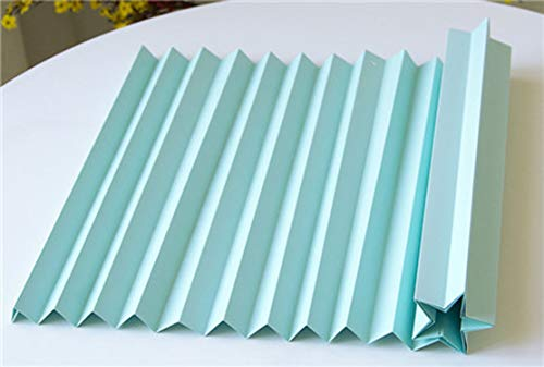 Miao Express Creative Corrugated Paper Wedding Background Decoration Wedding Scene Layout Props Origami Modeling Paper Window Wavy Paper,Light Blue ()