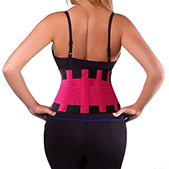 cca0a12851 BuyChoice™Waist Trainer Corset Plus Size Shapewear Body Shaper Slimming  Belt-Red-S  Amazon.in  Clothing   Accessories