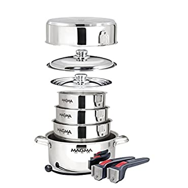 Magma A10-360L 10 Piece Gourmet Nesting Stainless Steel Cookware Set