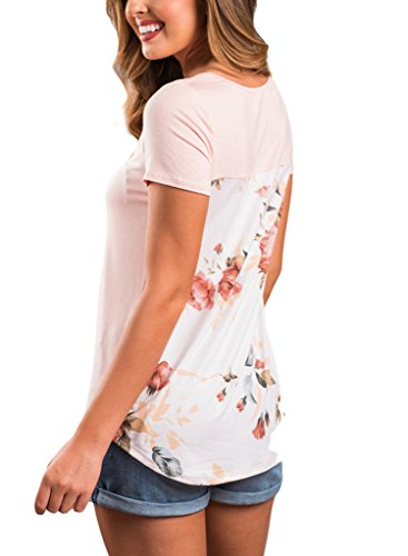 HOTAPEI Casual Floral Sleeve Blouse