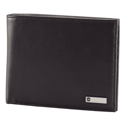 Price comparison product image Victorinox Men's Altius 3.0 Barcelona Leather Bi-Fold Wallet, Black, One Size