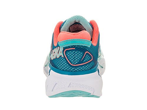 Hoka One One Donna Clifton 3 Blue Jewel / Neon Coral Running Shoe 9.5 Donne Us