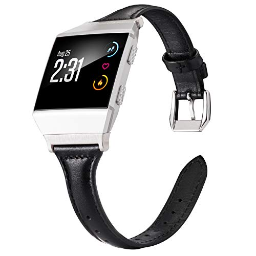Wearlizer Leather Band Compatible Fitbit Ionic Bands Women Men,Genuine Leather Replacement Band Bracelet Compatible Fitbit Ionic Small Large