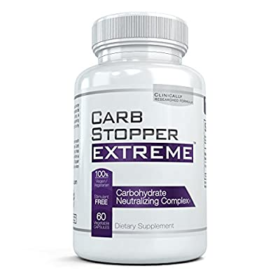 CARB STOPPER EXTREME - Maximum Strength Carbohydrate & Starch Blocker Weight Loss Diet Pills with White Kidney Bean Extract by Carb Stopper Extreme 60 caps