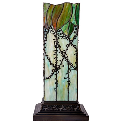17'' H Stained Glass Lavish Vine Hurricane Lamp by River of Goods