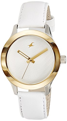 Fastrack Monochrome Analog White Dial Women's Watch -NM6078SL02