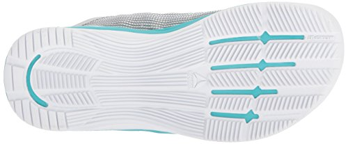 Reebok Women's Crossfit Nano 8.0 Flexweave Cross Trainer, White/Stark Grey/Grey/Classic White/Turquoise, 8.5 M US by Reebok (Image #3)