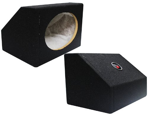 Absolute USA 6X9PKB 6 X 9 Inches Angled/Wedge Box Speakers, Set of Two (Black) ()