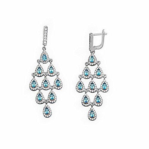 Boucled'oreille loi 5mm 925m argent de couleur perles pierres d'eau [AA1309]