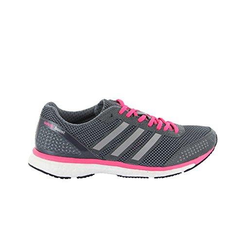 Adidas Adizero Adios Boost 2.0 Womens Running Shoe 11 Grey-Silver-Neon Pink