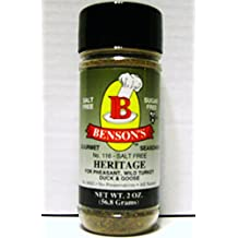 Heritage Salt-Free Game Bird & Poultry Seasoning - Makes Great Stuffing, Dressing, Wild Rice and More