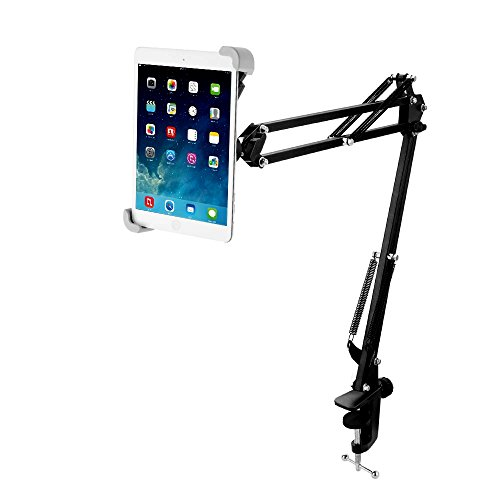 Miuko Tablet Stand, iPad Holder, 360° Swivel, Sturdy Aluminum Universal Tablet Mount Holder, Compatible with iPad Air Mini and Other Tablet (Best Price On Nabi 2)