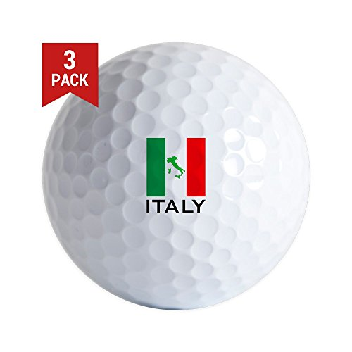 CafePress - Italy Flag 00 - Golf Balls (3-Pack), Unique Printed Golf Balls by CafePress
