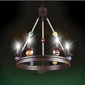 CU American Vintage billiard Seil Beleuchtung ländliche Industrie wind 6 loft...