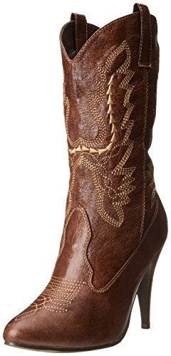 (Ellie Shoes Women's 418-cowgirl, Brown, 8 M US )