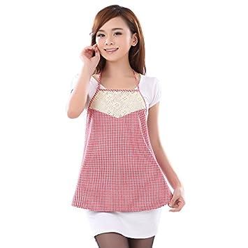 dmmss ropa para embarazo plata Fibra radiación dudou, Pink Grid,