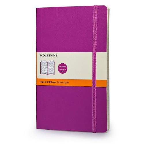 """Moleskine Classic Notebook, Soft Cover, Large (5"""" x 8.25"""") Ruled/Lined, Orchid Purple, 192 Pages"""