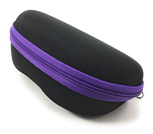 Sunglass Cases for Sports Size Sunglasses and Safety Glasses that are Affordable. (Purple)