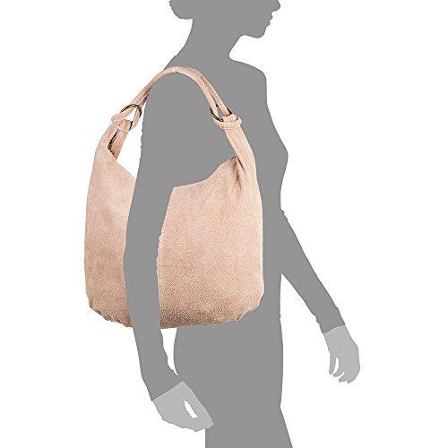 Mujer Italy Italiana Genuino 37x35x10 Mujer In Pelle Camel Firenze Vera Gamuza Nude Color Hombro Shopper Bolso De Cuero Artegiani bolso tacto Suave Made Cm bolso Auténtica bolso Piel 8BgxtHqwB