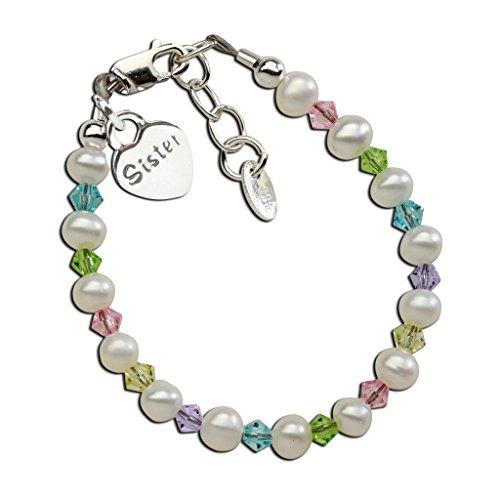 Color Multi Pearl Cultured Bracelet - Children's Sterling Silver