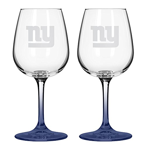 NFL New York Giants Wine Glass, 12-ounce, 2-Pack